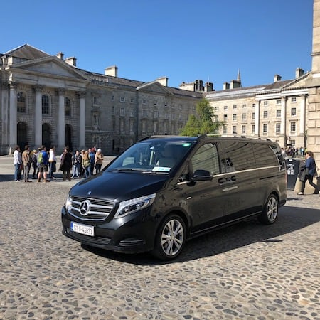 Mini bus at Trinity College